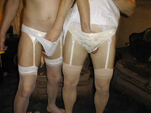 Men wearing lingerie during sex